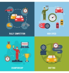 Auto Sport Flat vector image