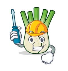 Automotive fennel mascot cartoon style vector