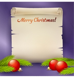 Background for the Christmas greetings vector image