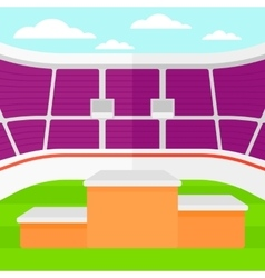 Background of stadium with podium for winners vector