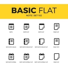 Basic set of Note icons vector image vector image