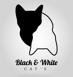 Black-and-white-cats vector