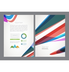 Business flyer magazine cover vector