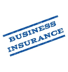 Business Insurance Watermark Stamp vector image vector image
