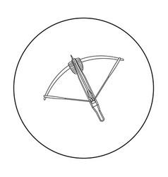 Crossbow icon outline single weapon icon from the vector