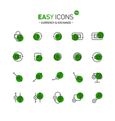 Easy icons 10d exchange vector