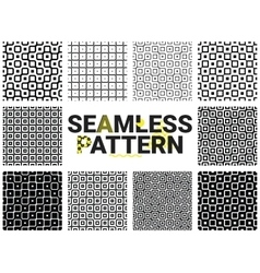 geometric seamless patterns vector image vector image