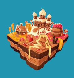 isometric sweet island vector image vector image