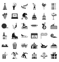 Lunapark icons set simple style vector