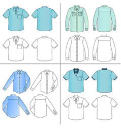 Mans shirt set vector