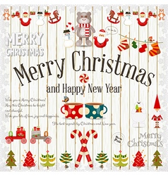 Merry Christmas and New Year vector image vector image