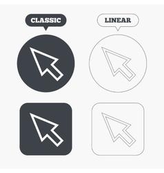 Mouse cursor sign icon Pointer symbol vector image