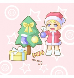 new year Santa Hawaii vector image