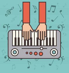 Piano instrument icon vector