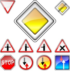 Set of road signs priority vector