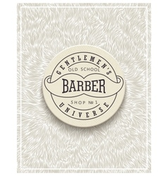 Stylish poster design for barbershop vector