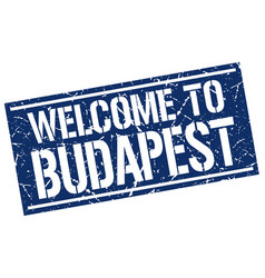 Welcome to budapest stamp vector