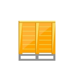Cargoes on pallets vector