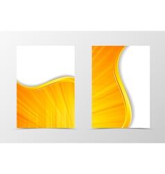 Front and back digital wave flyer template design vector