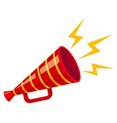 megaphone strip red isolated vector image