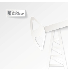 Origami oil pump on a white background vector image
