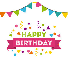 Happy birthday to you celebration poster vector