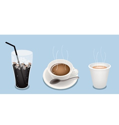 Iced hot cup coffee vector