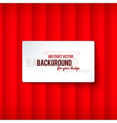 Bright red stripes background with label vector