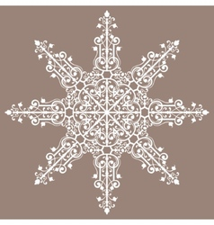 Vintage background ornament lace star vector