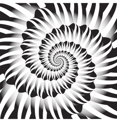 Design monochrome spiral movement background vector