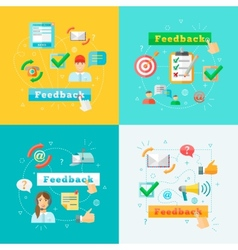 Feedback web infographic elements set vector
