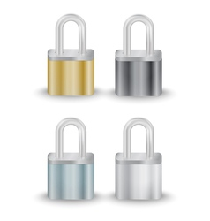 Padlock collection vector