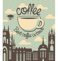 Coffee town vector