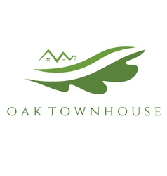 Concept of oak townhouse vector