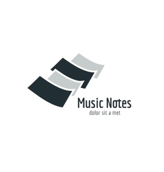Abstract music piano keys logo icon melody vector