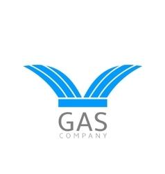 Gas logo sign vector image