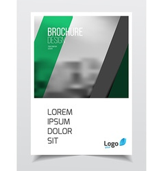 Corporate business document template vector