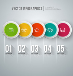 abstract infographic design Workflow layout vector image