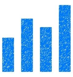 Bar graph grainy texture icon vector
