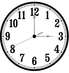 clock with movable hands vector image vector image