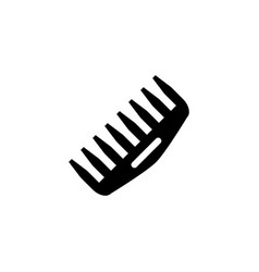 Comb isolated icon vector