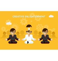 Creative enlightenment business guru creative vector