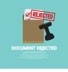 Document Rejected Stamp vector image