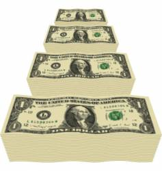 dollar piles vector image