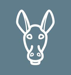 Donkey face vector