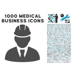 Engineer icon with 1000 medical business vector