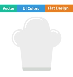 Flat design icon of Chief cap vector image