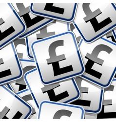 Font pound money sticker symbols vector image vector image