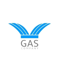 Gas logo sign vector
