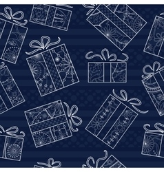 Gifts seamless pattern vector image vector image